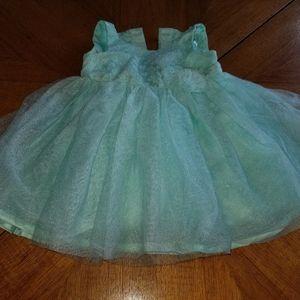 Sea foam sparkle tulle dress